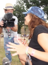 VIP videographer Glenn filming AJPR's Anna Jobz Rhythm and Vines 2010