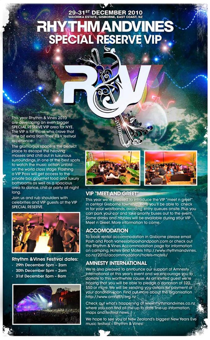 Rhythm & Vines Special Reserve VIP Ticket Information